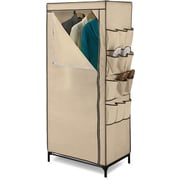 "Honey Can Do 27"" Storage Closet With Shoe Organizer, khaki (WRD-01270)"
