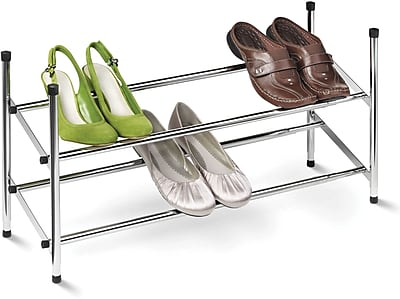 Honey Can Do 2-Tier Expandable Shoe Rack, Chrome (SHO-01170)