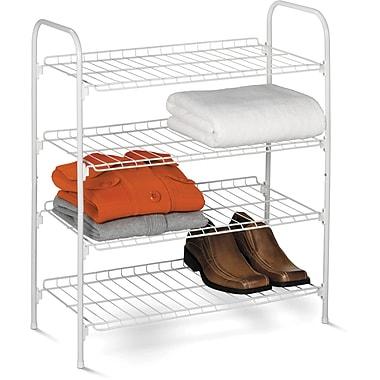 Honey Can Do® – Étagère en fil métallique à 4 niveaux pour chaussures et accessoires