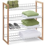 Honey Can Do 4 Tier Wood and Metal Storage Shelf