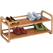 Honey Can Do 2-Tier Stackable Bamboo Shoe Shelf, bamboo (SHO-01633)