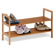 Honey Can Do 2-Tier Bamboo Shoe Shelf, natural finished bamboo (SHO-01600)