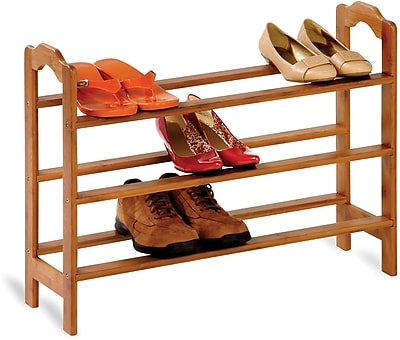 Honey Can Do 3-tier Bamboo Shoe Rack, natural finished bamboo (SHO-01601)