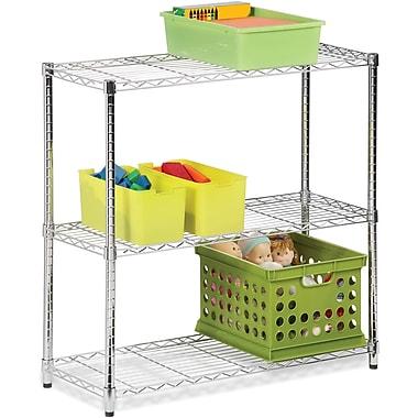 Honey Can Do Three tier chrome storage shelf