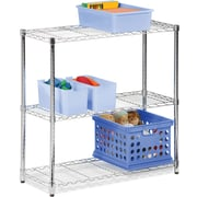 Honey Can Do 3-Tier Shelving Unit - 250 Lb. Capacity, Chrome