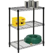Honey Can Do 3-Tier Shelving Unit - 250 Lb. Capacity, Black (SHF-01905)