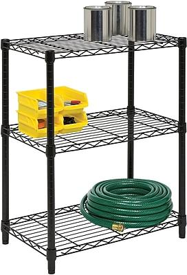 Honey Can Do 3-Tier Shelving Unit, 250 Lb. Capacity, Black