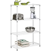 Honey Can Do 4-Tier 250lb. Capacity Shelving Unit, White