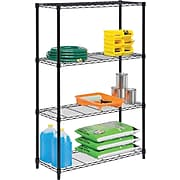 Honey Can Do 4-Tier 250lb. Capacity Shelving Unit, Black (SHF-01908)