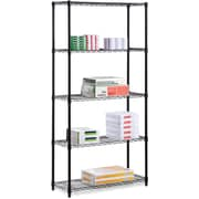 Honey Can Do 5-Shelf Metal Shelving Storage Unit, Black (SHF-01442)
