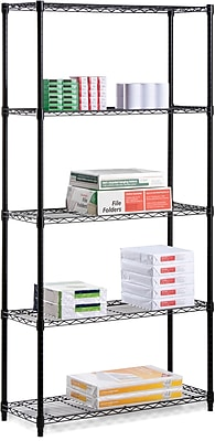 Honey Can Do 5-Tier 350 Lb. Capacity Shelving Unit, Black (SHF-01912)