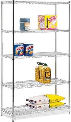 Honey Can Do 5-Tier 800 Lb. Capacity Shelving Unit, Chrome