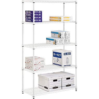 Honey Can Do 5-Tier 800 Lb. Capacity Shelving Unit, White