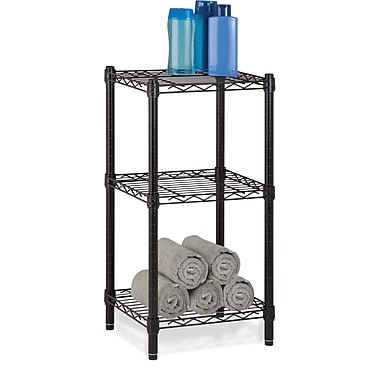 Honey Can Do 3-Tier Modular Stacking Shelf, Black