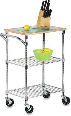 Honey Can Do Chrome 2-Shelf Urban Rolling Chopping Cart