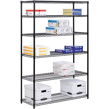 Honey Can Do 6-Tier Steel Shelving- 600 Lb. Capacity, Black (SHF-01911)