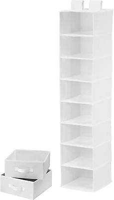 Honey Can Do 8 Shelf Organizer And Two Drawers, White (SFT-01744)