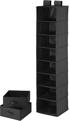 Honey Can Do 8 Shelf Organizer And Two Drawers, Black (SFT-01745)