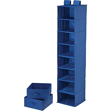 Honey Can Do 8 Shelf Organizer And Two Drawers, Blue
