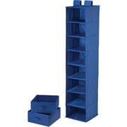Honey Can Do 8 Shelf Organizer And Two Drawers, Blue (SFT-01746)