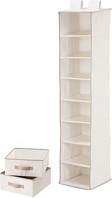 Honey Can Do 8 Shelf Organizer And Two Drawers, natural (SFT-01747)