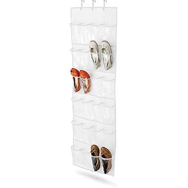 Honey Can Do® – Range-chaussures à suspendre sur une porte, 24 poches, blanc
