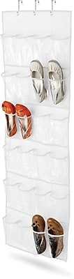 Honey Can Do 24 Pocket Over-Door Shoe Organizer, White (SFT-01242)