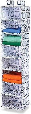 Honey Can Do 8 Shelf Hanging Organizer, Blue Print (SFT-01563)