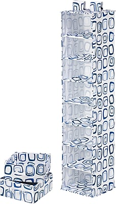 Honey Can Do 8 Shelf Organizer And Two Drawers, Blue Print (SFT-01748)