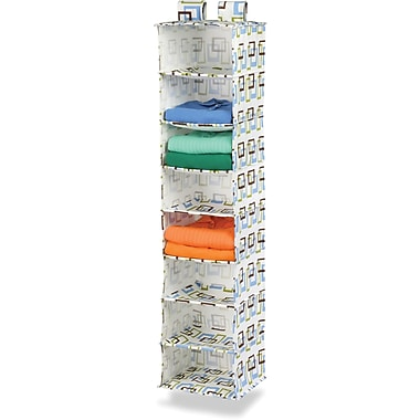 Honey Can Do 8 Shelf Hanging Organizer, Green Print (SFT-01570)