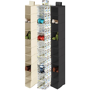 Honey Can Do 10 Shelf Hanging Organizer, Brown Print (SFT-01571)
