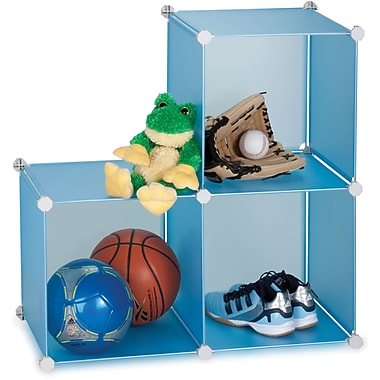 Honey Can Do 3 Pack Storage Cubes, Blue (SFT-01466)