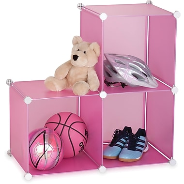 Honey Can Do 3 Pack Storage Cubes, Pink, translucent pink (SFT-02166)