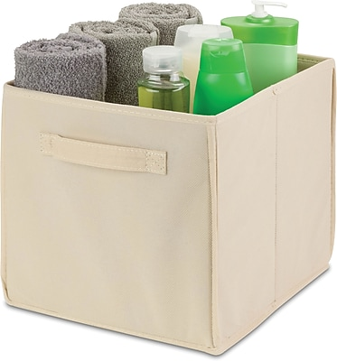 Honey Can Do 4 Pack Non-Woven Foldable Cube, Beige (SFTZ02115)