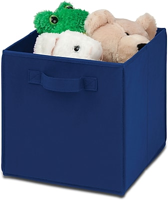 Honey Can Do 4 Pack Non-Woven Foldable Cube, Blue (SFTZ01760)