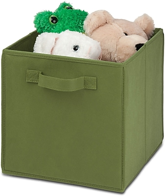 Honey Can Do 4 Pack Non-Woven Foldable Cube, Green (SFTZ01761)