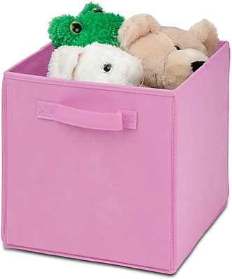 Honey Can Do 4 Pack Non-Woven Foldable Cube, Pink (SFTZ01762)