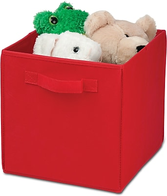 Honey Can Do 4 Pack Non-Woven Foldable Cube, Red (SFTZ01764)