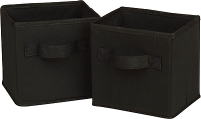 Honey Can Do 6pk Mini Non-Woven Foldable Cube, Black (SFTZ02084)