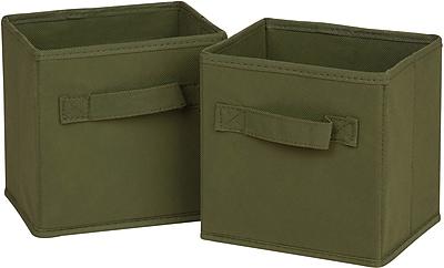 Honey Can Do 6pk Mini Non-Woven Foldable Cube, Green (SFTZ02086)