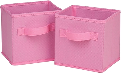 Honey Can Do 6pk Mini Non-Woven Foldable Cube, Pink (SFTZ02087)