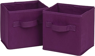 Honey Can Do 6pk Mini Non-Woven Foldable Cube, Purple (SFTZ02088)