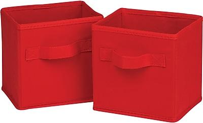 Honey Can Do 6pk Mini Non-Woven Foldable Cube, Red (SFTZ02089)