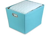 Honey Can Do Decorative Storage Bin, Large, blue (SFT-01994)