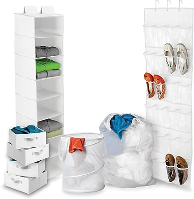 Honey Can Do Back To School Home Organization Kit, White (BTS-01586)