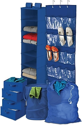 Honey Can Do Back To School Home Organization Kit, Blue (BTS-01587)