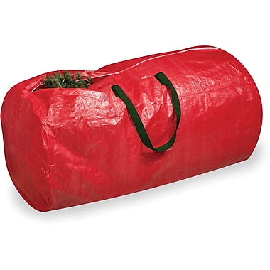 Honey Can Do Tree Storage Bag, red with green handles (SFT-01316)