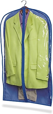 Honey Can Do 2 Pack Suit Bag, Polyester, Blue (SFTZ01279)