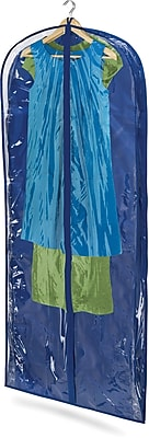Honey Can Do 2 Pack Dress Bag, Polyester, Blue (SFTZ01280)