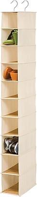Honey Can Do 10 Shelf Hanging Organizer, Bamboo (SFT-01001)
